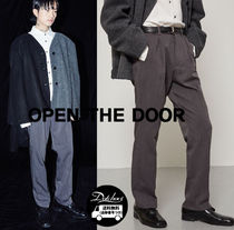 OPEN THE DOOR Slax Pants Street Style Plain Slacks Pants