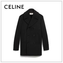 CELINE Plain Peacoats
