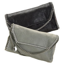 Stella McCartney Casual Style Faux Fur Vanity Bags Chain Plain Party Style