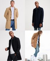 Superdry Stand Collar Coats Street Style Plain Long Coats