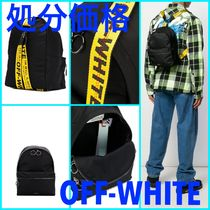 Off-White Blended Fabrics Street Style Plain Special Edition Backpacks