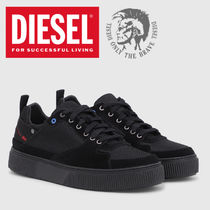DIESEL Blended Fabrics Street Style Leather Sneakers