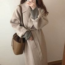 Casual Style Wool Medium Long Party Style Office Style