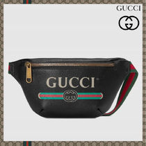 GUCCI Unisex 2WAY Leather Messenger & Shoulder Bags