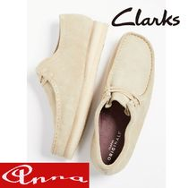 Clarks Moccasin Suede Blended Fabrics Street Style Plain