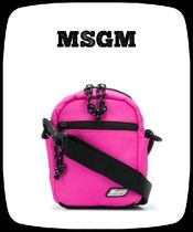 MSGM Casual Style Street Style 2WAY Plain Shoulder Bags