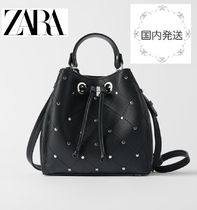 ZARA Casual Style Faux Fur Studded 2WAY Shoulder Bags