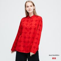UNIQLO Dots Casual Style Collaboration Long Sleeves Elegant Style