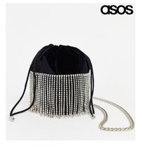 ASOS Plain Party Style Purses Fringes Elegant Style Party Bags