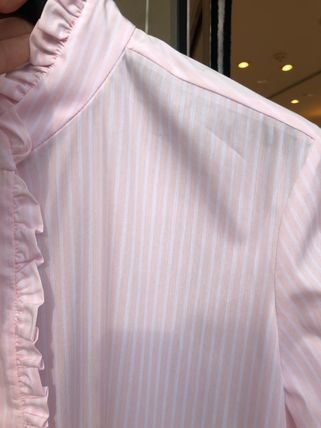 Stripes Long Sleeves Office Style Shirts & Blouses