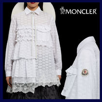 MONCLER MONCLER GENIUS Flower Patterns Lace-up Blended Fabrics Long Sleeves Plain