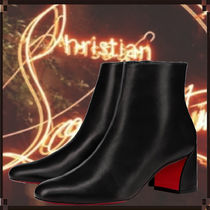 Christian Louboutin Casual Style Street Style Leather Block Heels Office Style