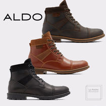 ALDO Plain Leather Oversized Boots