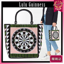 Lulu Guinness Stripes Casual Style Totes