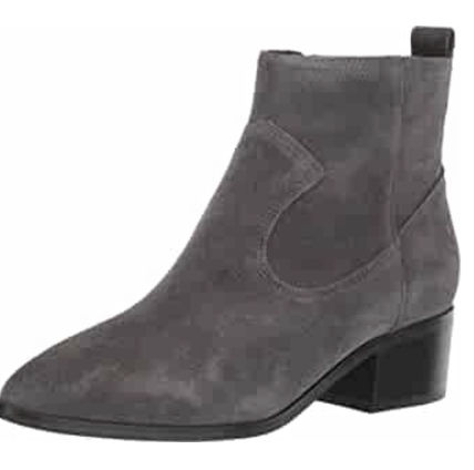 Suede Leather Mid Heel Boots