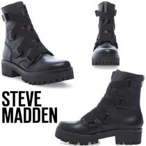 Steve Madden Platform Casual Style Plain Leather Mid Heel Boots