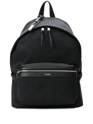 Saint Laurent Casual Style Plain Leather Logo Backpacks
