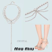 MiuMiu Party Style With Jewels Elegant Style Anklets