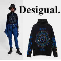 Desigual Heart Flower Patterns Casual Style Long Sleeves Cotton