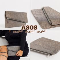 ASOS Casual Style Street Style Vanity Bags Plain Party Style