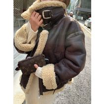 Faux Fur Street Style Bi-color Plain Medium Home Party Ideas