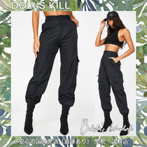DOLLS KILL Casual Style Street Style Plain Cropped & Capris Pants