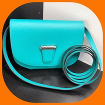 HERMES Casual Style Lambskin Plain Leather Party Style