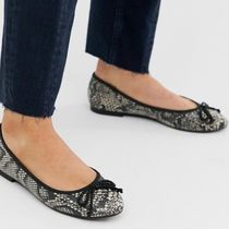 ASOS Round Toe Casual Style Python Flats