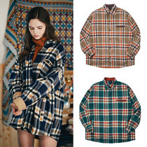 WV PROJECT Tartan Other Check Patterns Casual Style Unisex Wool