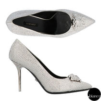 VERSACE With Jewels Elegant Style Pointed Toe Pumps & Mules