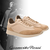 Gianvito Rossi Suede Street Style Plain Leather Sneakers