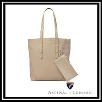 Aspinal of London Casual Style A4 Leather Office Style Elegant Style Totes