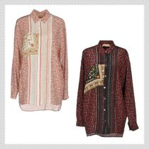 N21 numero ventuno Flower Patterns Silk Long Sleeves Shirts & Blouses