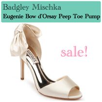 Badgley Mischka Open Toe Plain Party Style Elegant Style