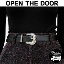 OPEN THE DOOR Casual Style Unisex Street Style Plain Belts