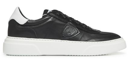 Street Style Plain Leather Logo Sneakers