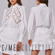 Cameo the Label Casual Style Long Sleeves Plain Medium Lace Elegant Style