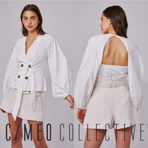Cameo the Label Casual Style Long Sleeves Plain Cotton Medium Elegant Style