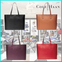 Cole Haan Casual Style A4 Plain Leather Office Style Totes