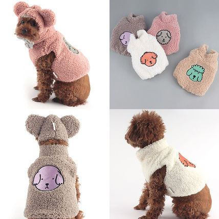 Unisex Street Style Shearling Pet Supplies