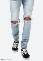 MNML More Jeans Unisex Denim Street Style Plain Cotton Jeans 5
