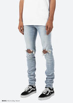 MNML More Jeans Unisex Denim Street Style Plain Cotton Jeans 6