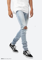 MNML More Jeans Unisex Denim Street Style Plain Cotton Jeans 8