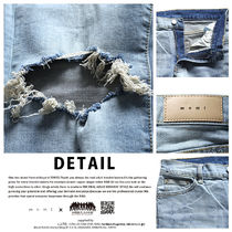 MNML More Jeans Unisex Denim Street Style Plain Cotton Jeans 14