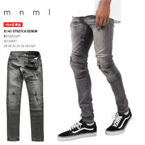 MNML Unisex Denim Street Style Plain Cotton Jeans & Denim