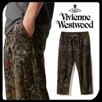 Vivienne Westwood Tapered Pants Printed Pants Cotton Tapered Pants