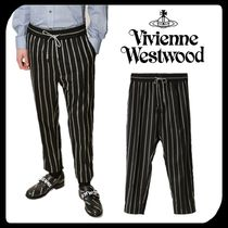 Vivienne Westwood Tapered Pants Stripes Wool Tapered Pants