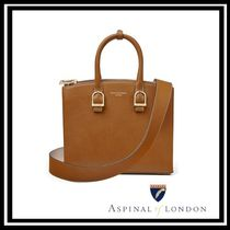 Aspinal of London Leather Office Style Elegant Style Totes