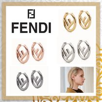 FENDI F IS FENDI Costume Jewelry Casual Style Unisex Party Style Earrings