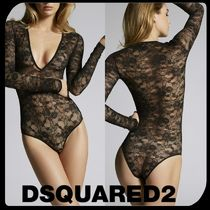 D SQUARED2 Flower Patterns Lace Underwear & Roomwear